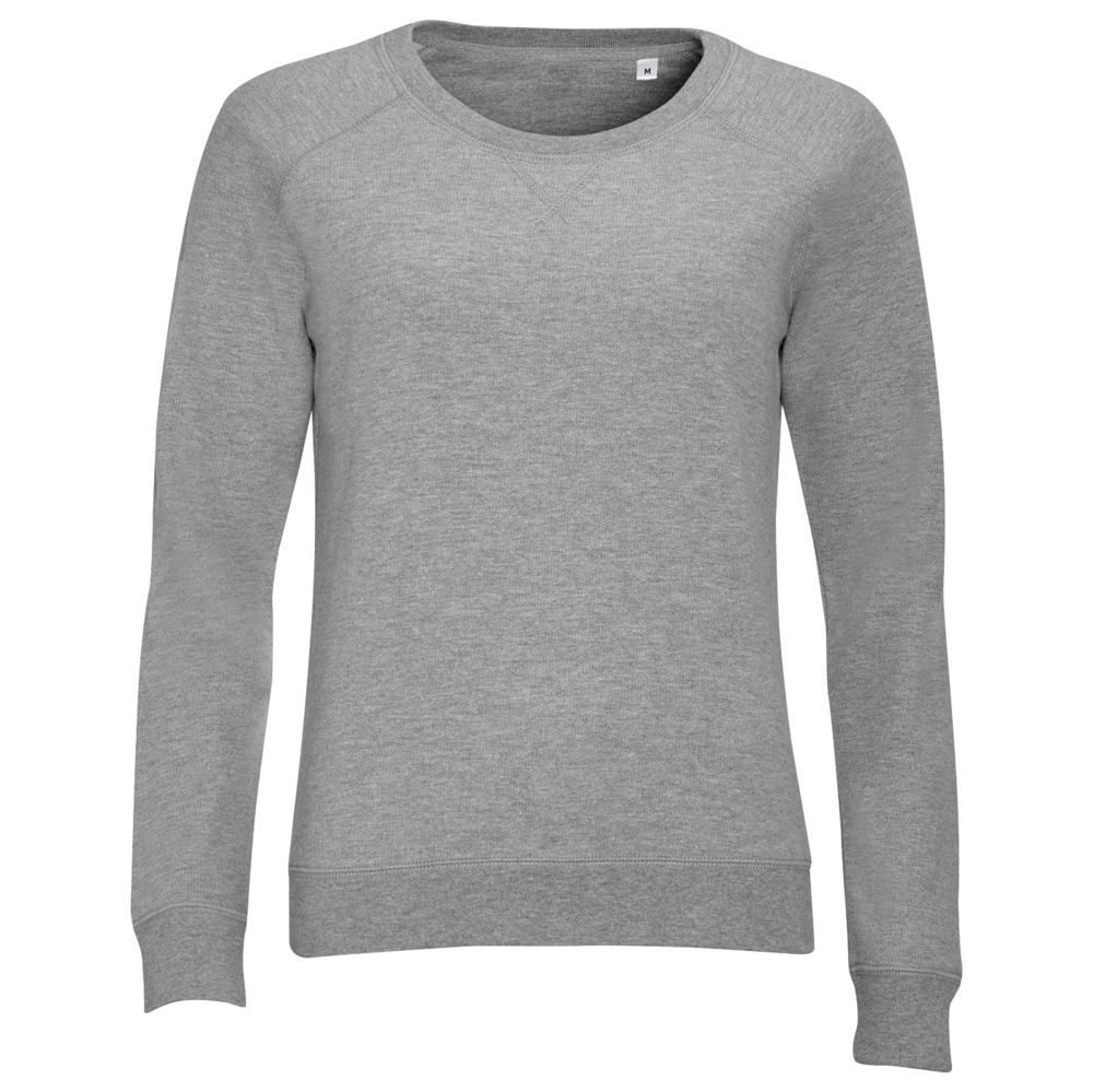 Толстовка STUDIO WOMEN серый меланж, размер M юбка sela цвет серый меланж skk 118 887 7413 размер m 46