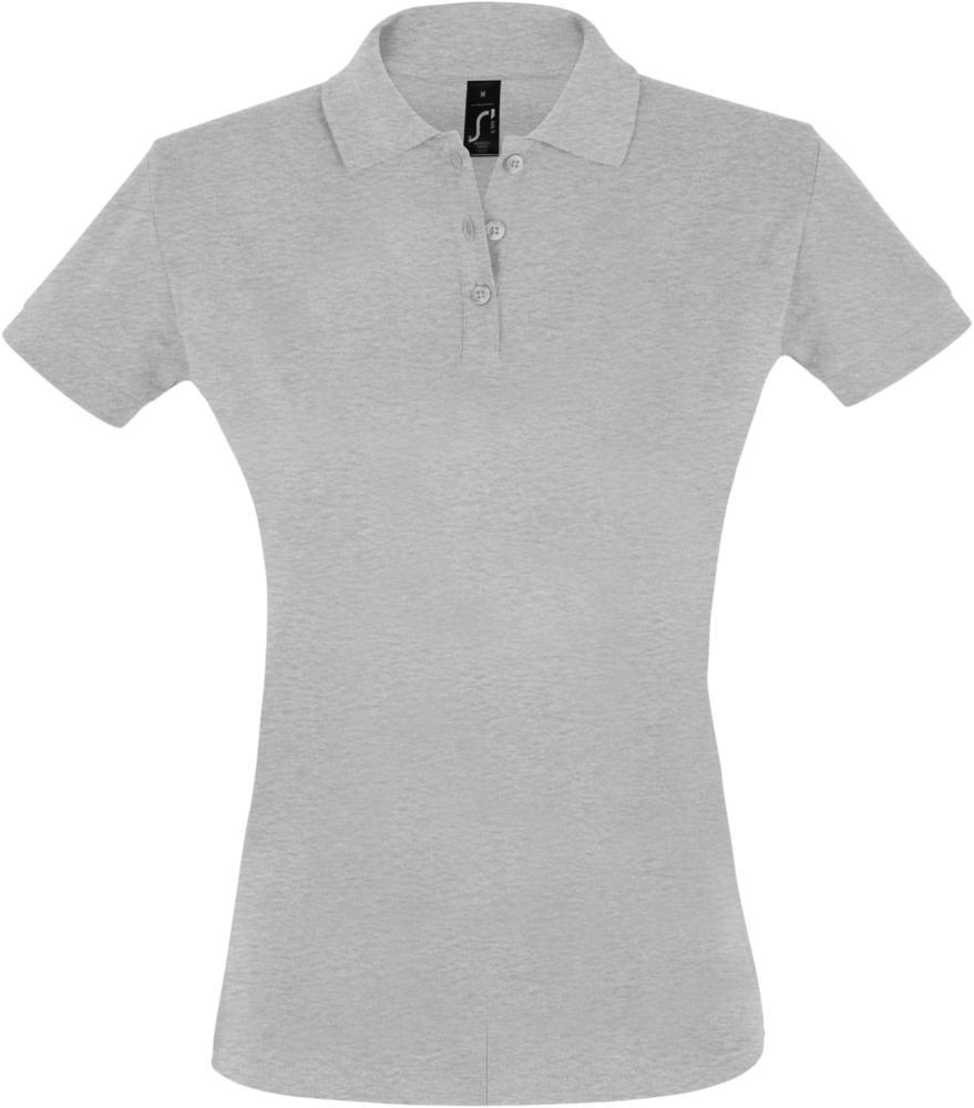 Рубашка поло женская PERFECT WOMEN 180 серый меланж, размер L
