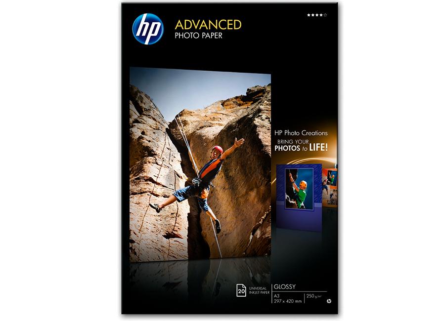 Фото - Фотобумага HP Advanced Glossy Photo Paper А3, 250 г/м2, глянцевая, 50 листов (Q8697A) фотобумага hp q8917a глянцевая