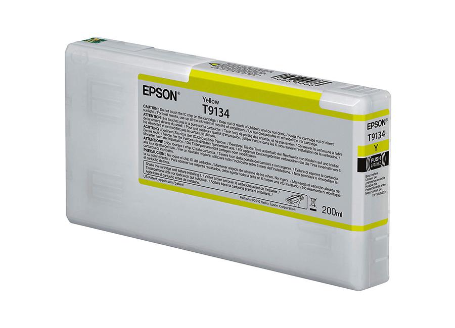 Epson T9134 Yellow 200 мл (C13T913400) epson t5804 yellow 80 мл c13t580400