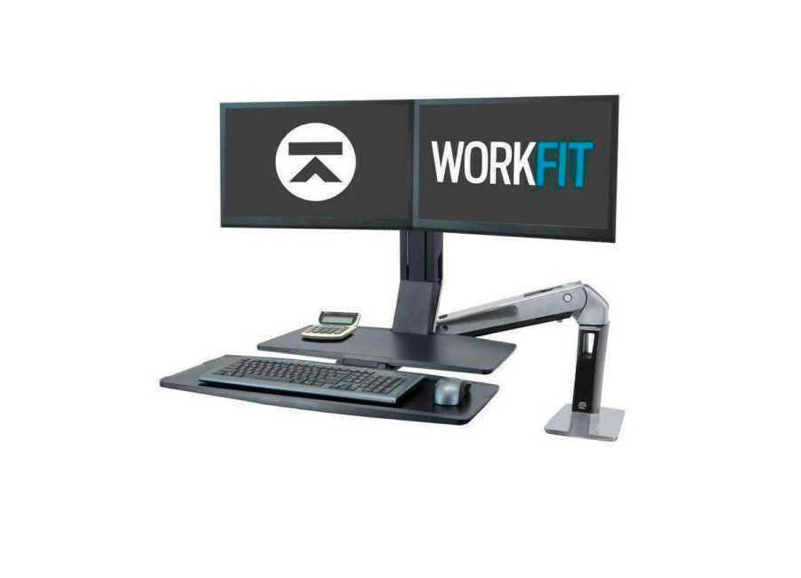 Настольное крепление для двух мониторов с рабочей поверхностью Ergotron WorkFit-A II (24-316-026)