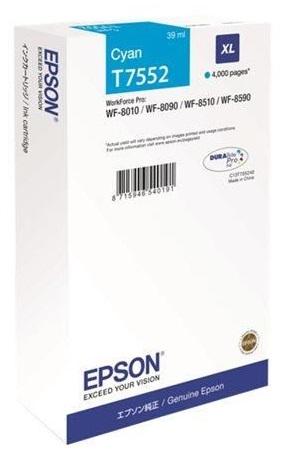 Картридж повышенной емкости с голубыми чернилами Epson T7552 для WF-8090, 8590 (C13T755240)