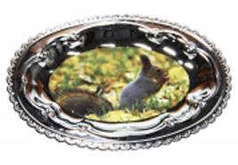 Тарелка овальная металлическая