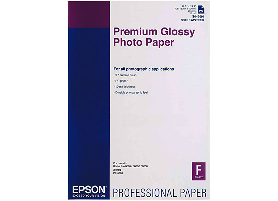 Epson Premium Glossy Photo Paper A2, 255 г/м2, 25 листов (C13S042091) шина continental contisportcontact 6 255 35 r19 96y