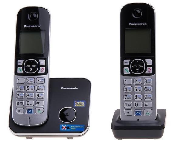Фото - KX-TG6812RUB проводной и dect телефон foreign products vtech ds6671 3