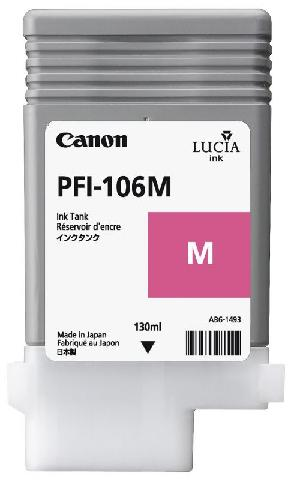 Canon PFI-106M Magenta 130 мл (6623B001) картридж pfi 101pm photo magenta 0888b001