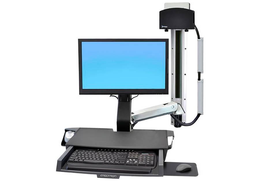 Купить Крепление, Ergotron «Рука» StyleView с рабочей поверхностью и малым держателем CPU (45-272-026), чёрное
