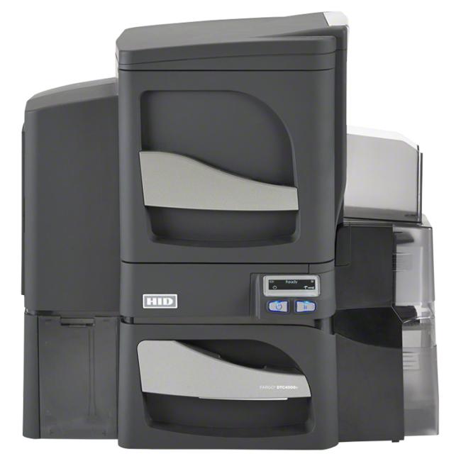Fargo DTC4500e DS LAM2 +MAG, входной лоток с замком система персонализации карт fargo dtc4500e ss system