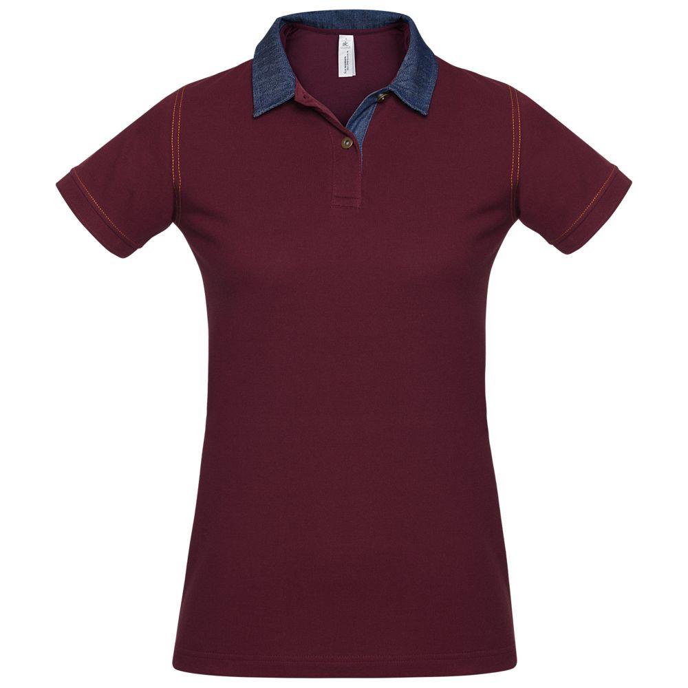 Рубашка поло женская DNM Forward бордовая, размер M рубашка поло женская dnm forward серый меланж размер m