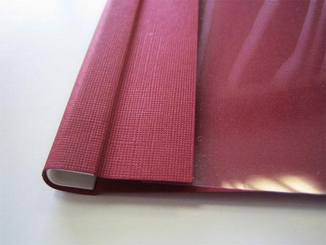 Мягкие обложки A4 O.SOFTCLEAR C (16 мм) с текстурой лен, бордо