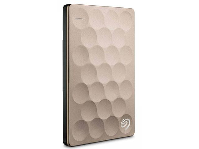 Внешний жесткий диск Backup Plus Ultra Slim 1 ТБ (STEH1000201), золотистый внешний жесткий диск 2 5 2000gb seagate steh2000201 usb3 0 backup plus ultra slim золотой