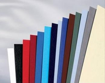 Обложка картонная, Кожа, A4, 230 г/м2, Серый, 100 шт
