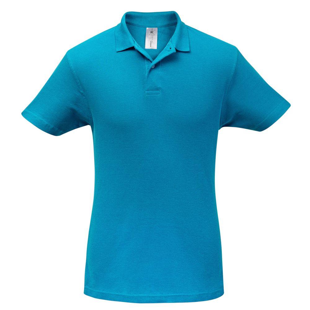 цена Рубашка поло ID.001 бирюзовая, размер L онлайн в 2017 году