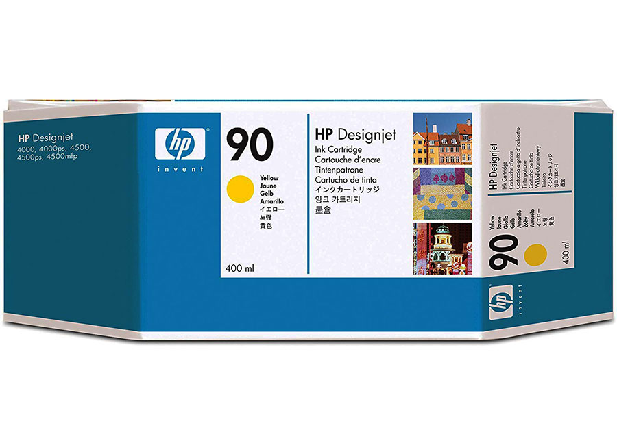 Набор картриджей HP DesignJet 90 Yellow 3x400 мл (C5085A) hot sales 80 printhead for hp80 print head hp for designjet 1000 1000plus 1050 1055 printer