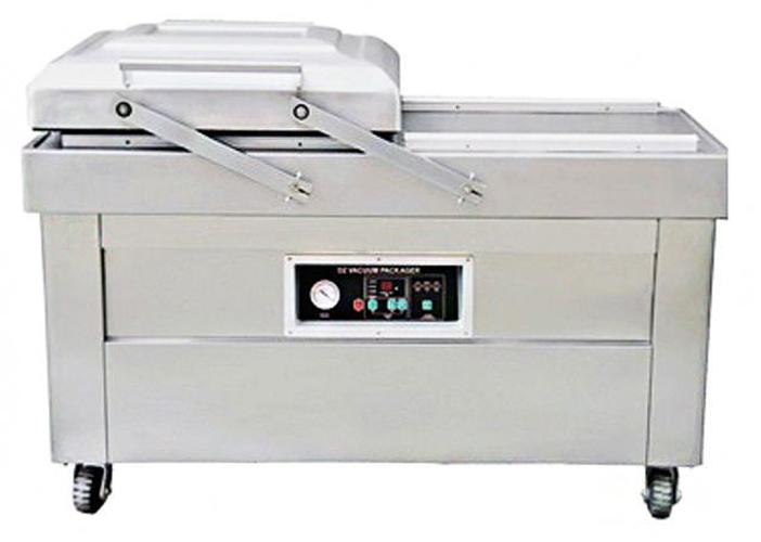 Напольная двухкамерная вакуум-упаковочная машина HL DZ-500/2SB SS (нерж.)
