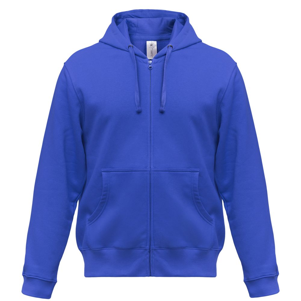 Толстовка мужская Hooded Full Zip ярко-синяя, размер S