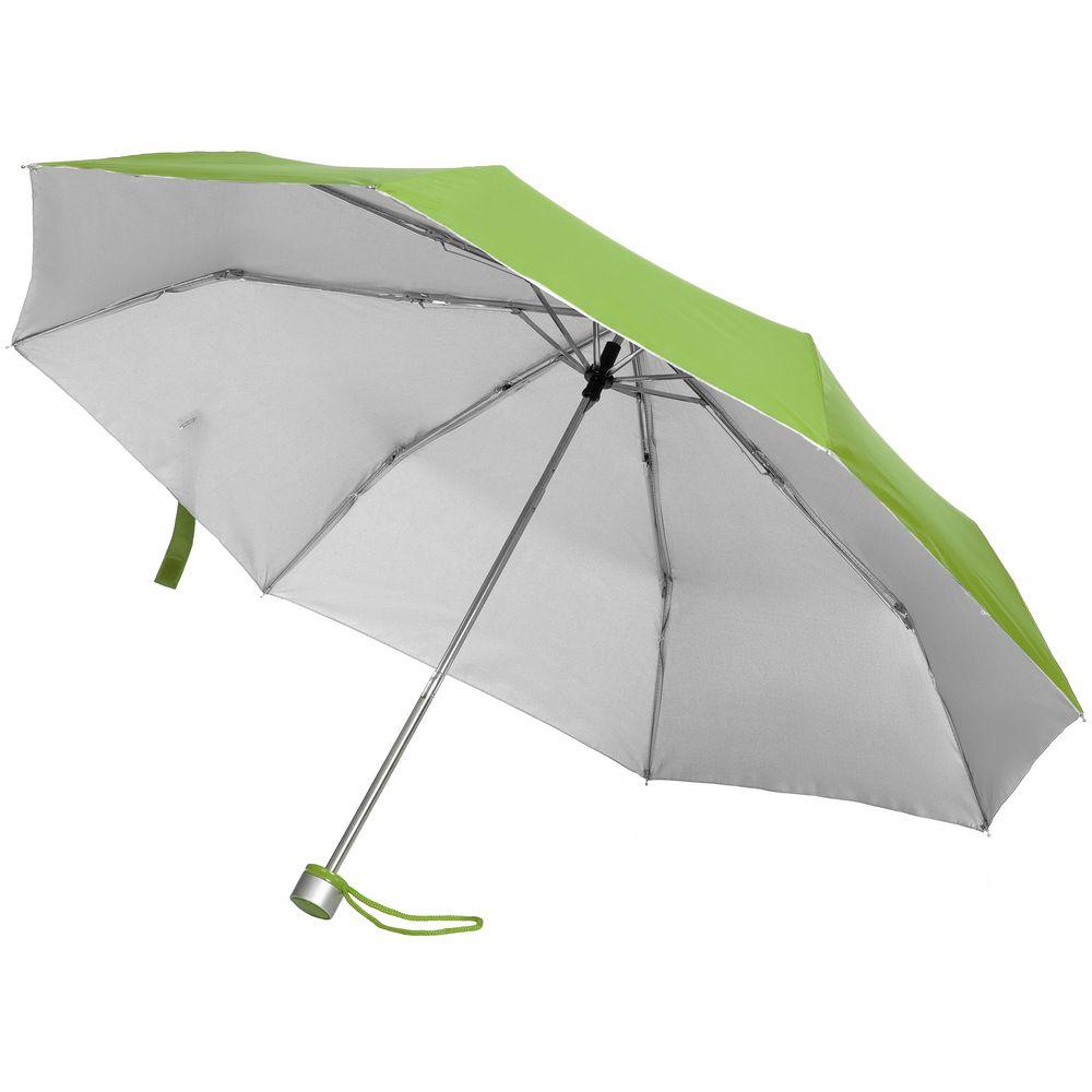 Зонт складной Silverlake, зеленое яблоко с серебристым весы таймер кухонные uma зеленое яблоко 56 7180cm casa bugatti