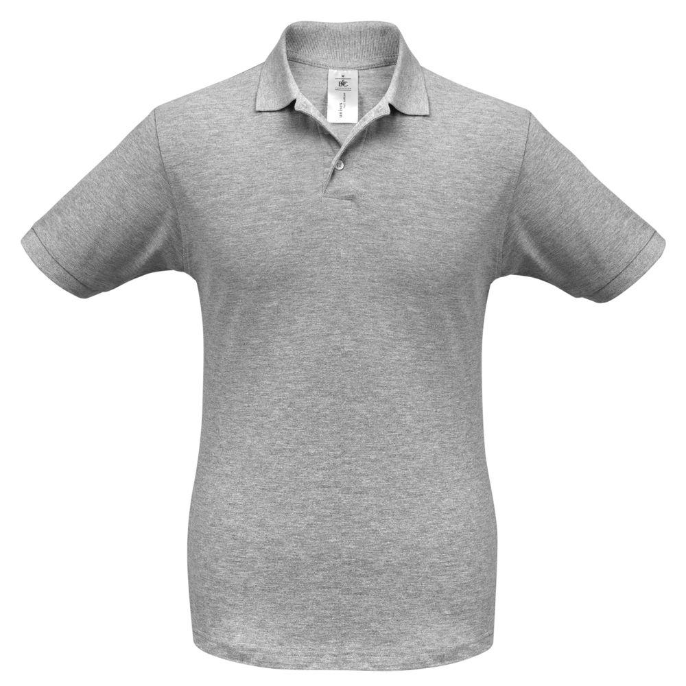 Рубашка поло Safran серый меланж, размер XL рубашка поло женская safran timeless темно синяя размер xl