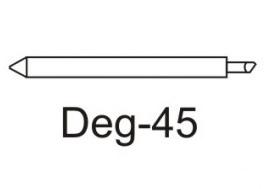 Нож Deg-45 для плотных материалов (угол 45) для плоттеров EasiCut, DGI, Mimaki, Gerber, Muton пюре heinz чернослив с 5 мес 80 г