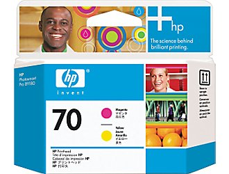 Печатающая головка HP Print Head №70 Magenta & Yellow (Z2100/Z3100) (C9406A) печатающая головка colorwave300 magenta 5835b003
