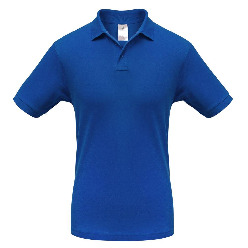 Рубашка поло Safran ярко-синяя, размер M рубашка поло safran темно синяя размер xxl