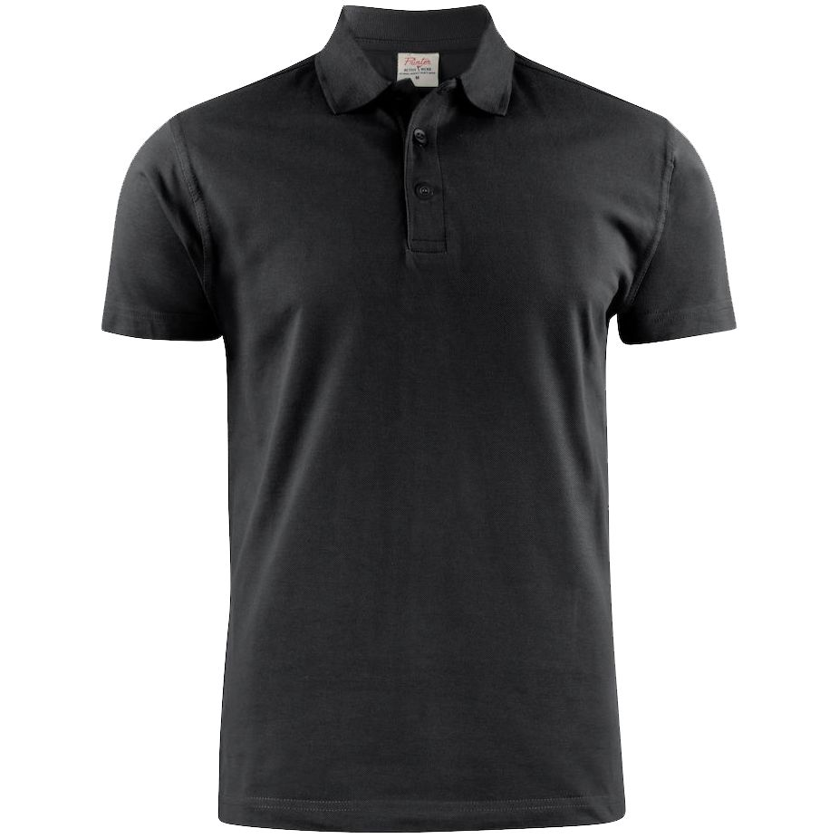 Рубашка поло мужская Surf черная, размер M