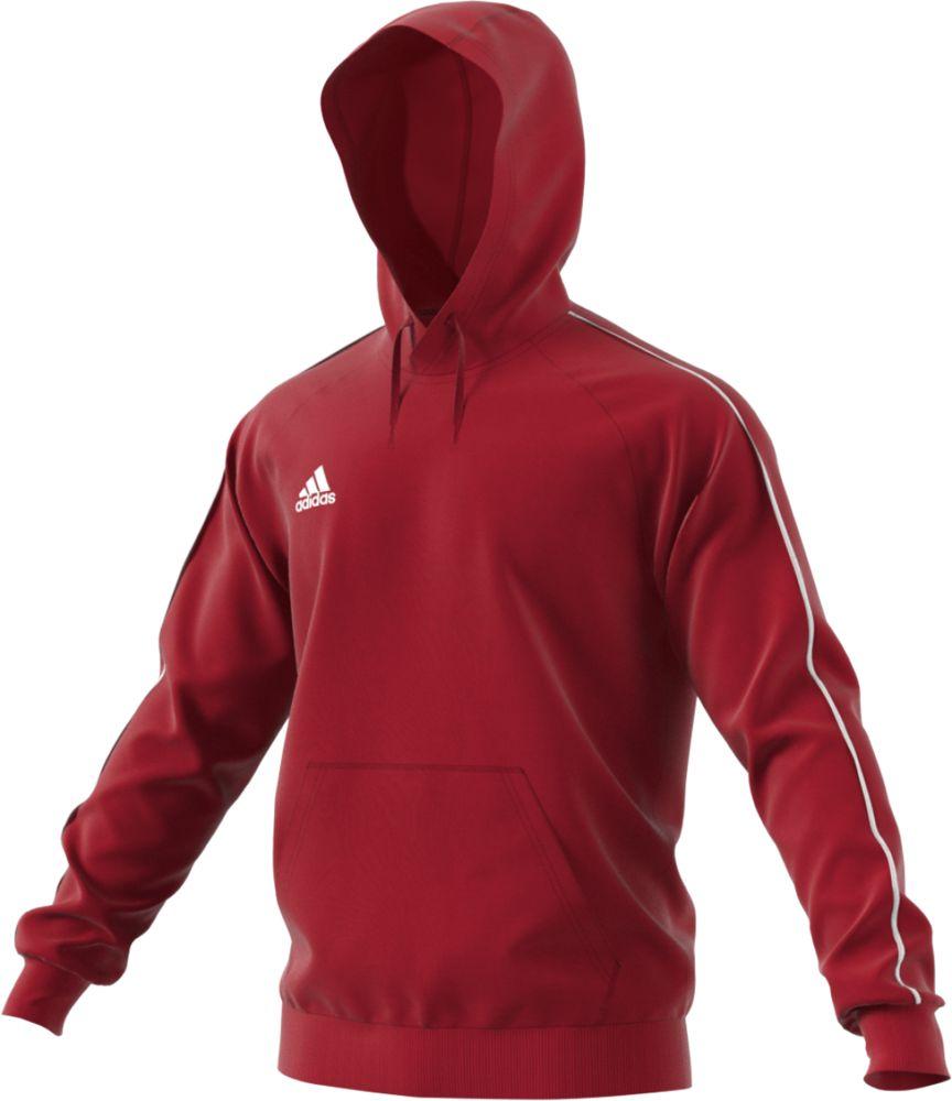 Толстовка с капюшоном Core 18 Hoody, красная, размер XL