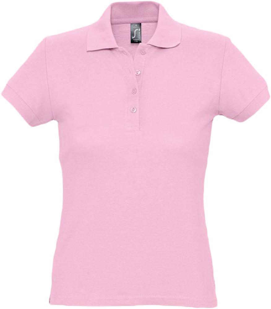 цена Рубашка поло женская PASSION 170 розовая, размер XL онлайн в 2017 году