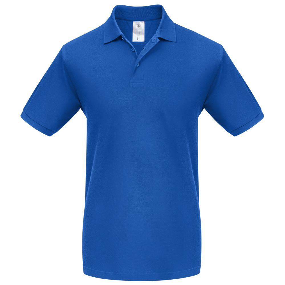 Рубашка поло Heavymill ярко-синяя, размер L