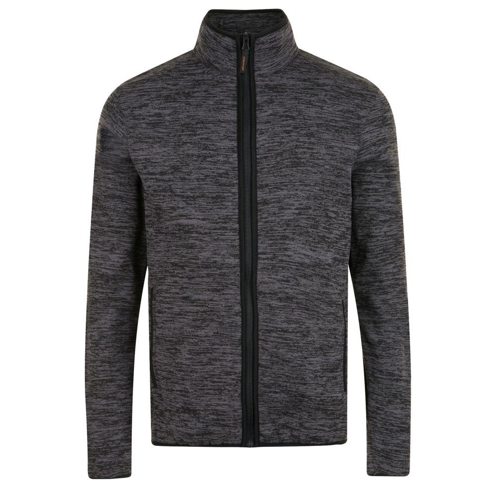 Куртка флисовая TURBO темно-серый/черный, размер 5XL фото