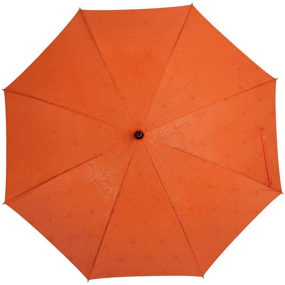 NoName / Зонт-трость Magic с проявляющимся цветочным рисунком, оранжевый