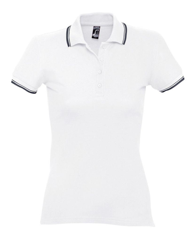 Рубашка поло женская Practice women 270 белая с темно-синим, размер M фото