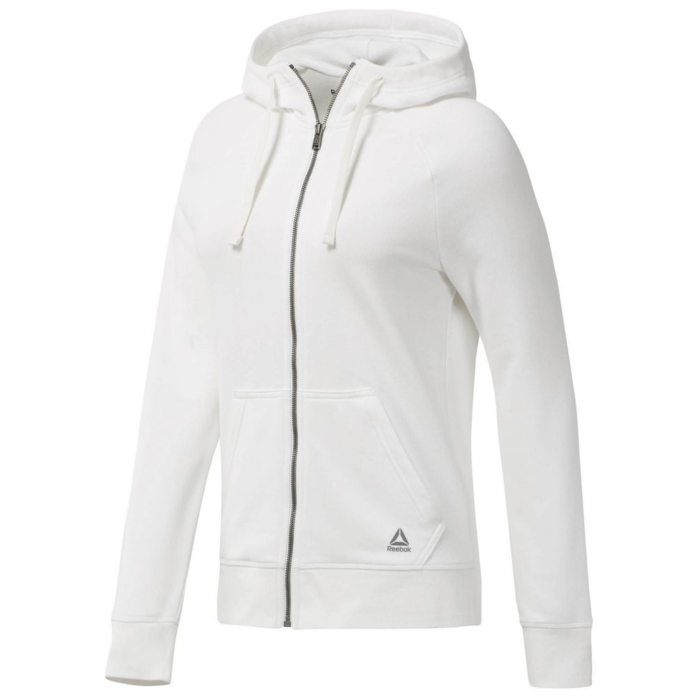 Толстовка ELEMENTS FRENCH TERRY FULL ZIP, белая, размер L