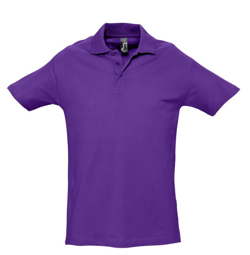 Рубашка поло мужская SPRING 210 темно-фиолетовая, размер M фото