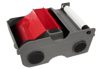 Фото - Картридж с лентой и чистящим валиком красная лента Fargo 45105 картридж с лентой и чистящим валиком полноцветная лента ymcko 45100
