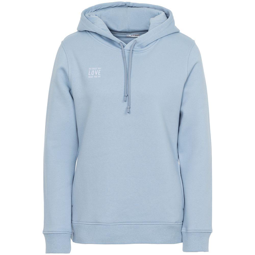 Худи с вышивкой женское Do Love, серо-голубое, размер XL