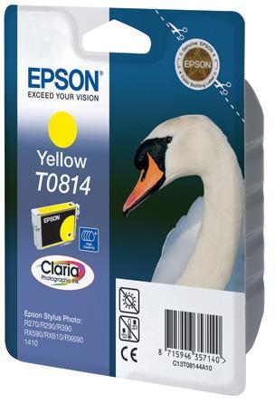 Фото - Картридж с желтыми чернилами повышенной емкости Epson T0814 (C13T11144A10) картридж с желтыми чернилами epson t0824 c13t11244a10