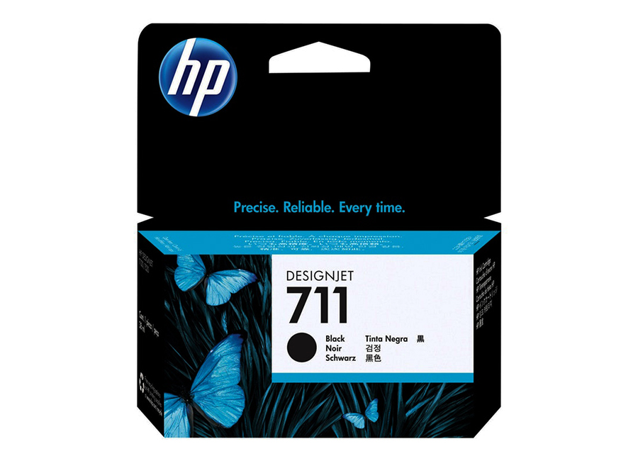 HP DesignJet 711 Black 38 мл (CZ129A) подставка hp 24in stand for designjet t120 t520 b3q35a