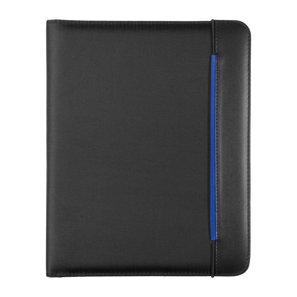 Папка Mokai формата А4 с блокнотом, синяя папка luxe синяя