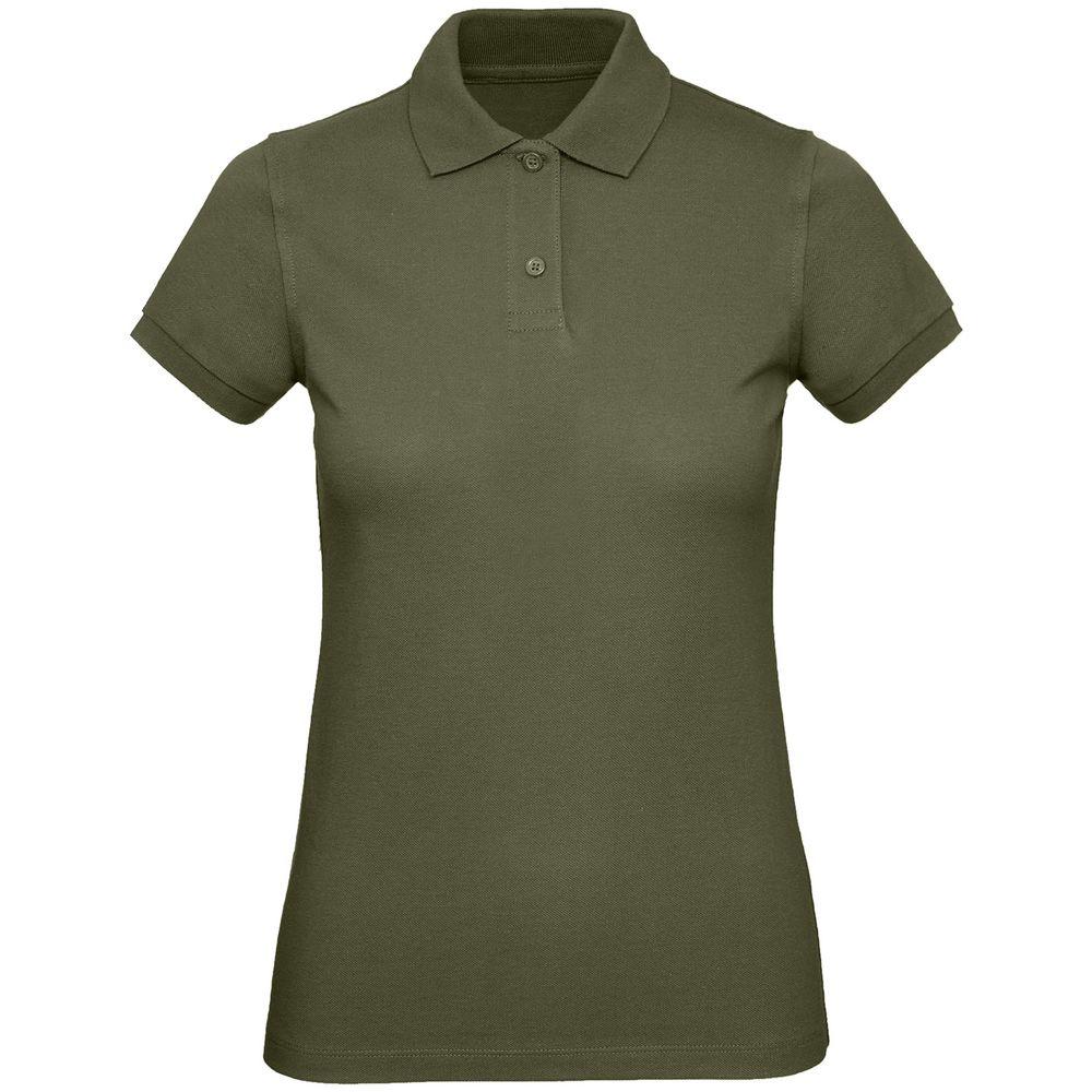 Рубашка поло женская Inspire хаки, размер XL фото