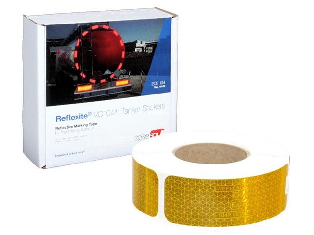 Oralite/Reflexite VC104+ Tanker Stickers для жесткого борта, для цистерн, желтая 0.05x50 м oralite reflexite vc104 rigid grade commercial для жесткого борта желтая 0 05x50 м