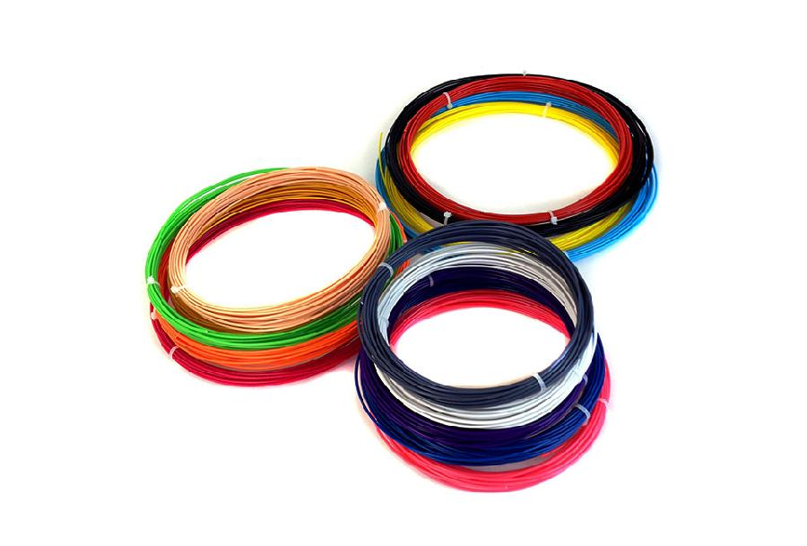 Фото - Комплект ABS-пластика ESUN 1.75 мм Для 3D ручек, 14 цветов по 9 метров каждого цвета кеды мужские vans ua sk8 mid цвет белый va3wm3vp3 размер 9 5 43