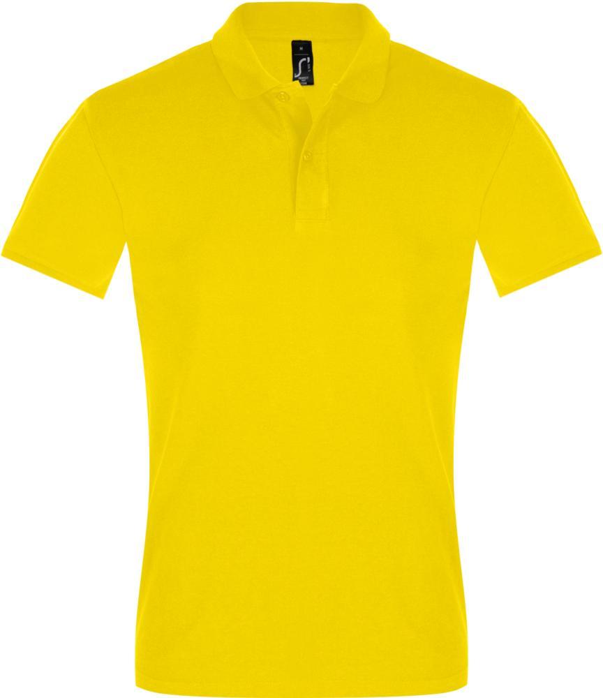 Рубашка поло мужская PERFECT MEN 180 желтая, размер M фото