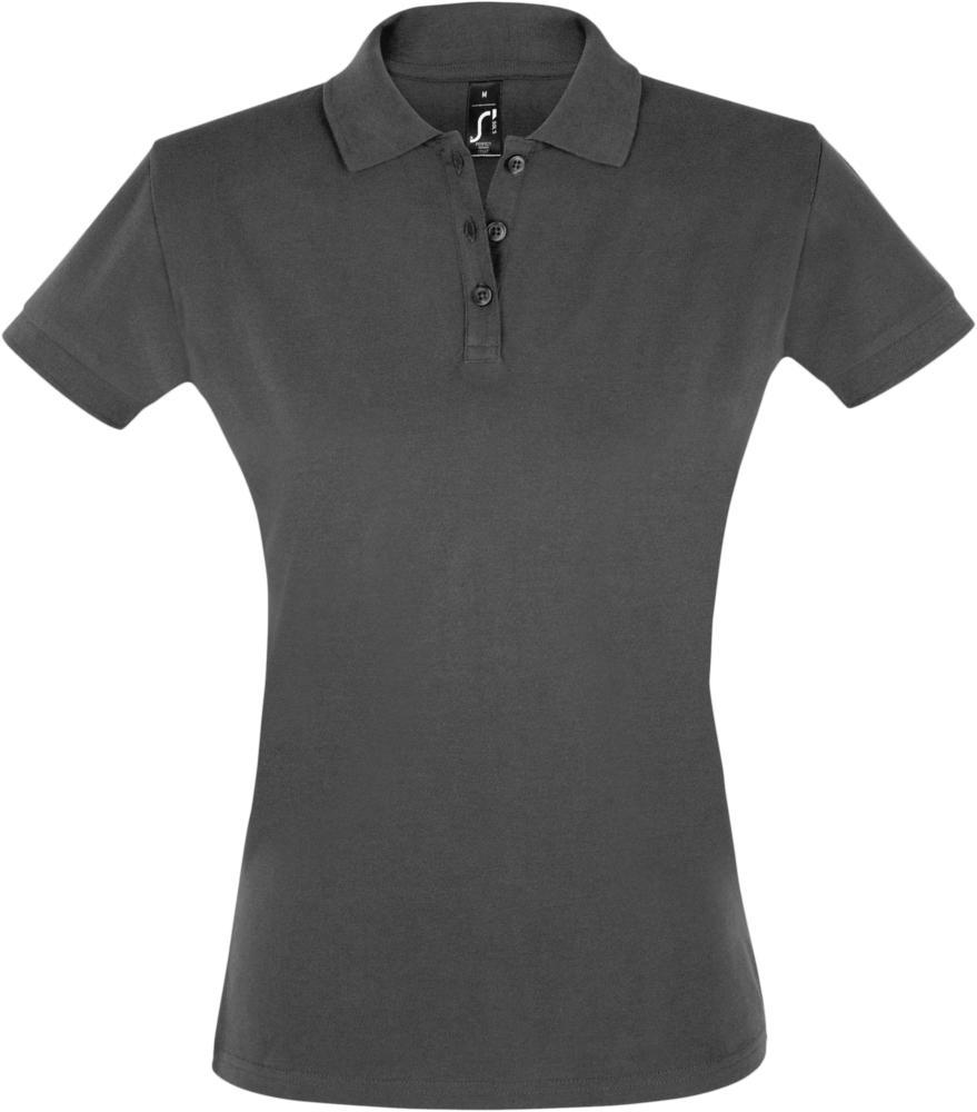 Рубашка поло женская PERFECT WOMEN 180 темно-серая, размер S рубашка поло женская perfect women 180 серый меланж размер s