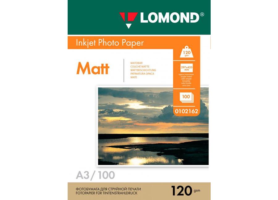 Фото - Lomond для струйной печати, A3, 120 г/м2, 100 листов, односторонняя, матовая (0102162) lomond для струйной печати a2 100 г м2 25 листов двусторонняя матовая матовая 0102137