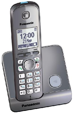 Фото - KX-TG6711RUM проводной и dect телефон foreign products vtech ds6671 3