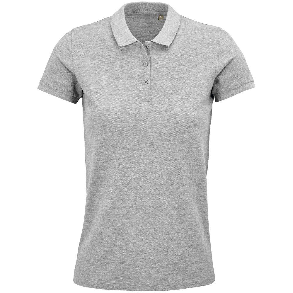 Фото - Рубашка поло женская Planet Women, серый меланж, размер XL рубашка поло heavymill серый меланж размер xl