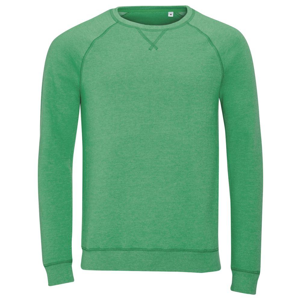 цена Толстовка STUDIO MEN зеленый меланж, размер XXL онлайн в 2017 году