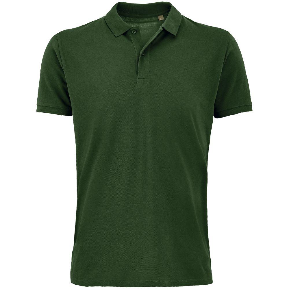 Рубашка поло мужская Planet Men, темно-зеленая, размер 4XL