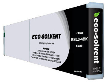 ECO-Solvent Black 440 мл (ESL3-4BK) eco solvent printer dx5 double capping station system for galaxy with 2 original